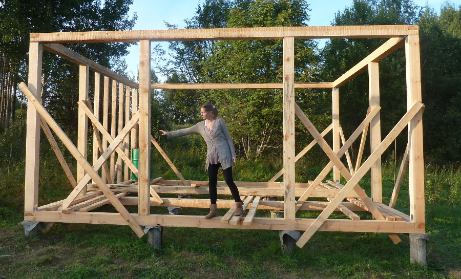 Как построить дом из бруса своими руками фотоотчет